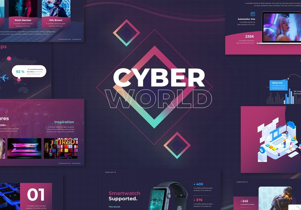 Free Cyber PowerPoint Template