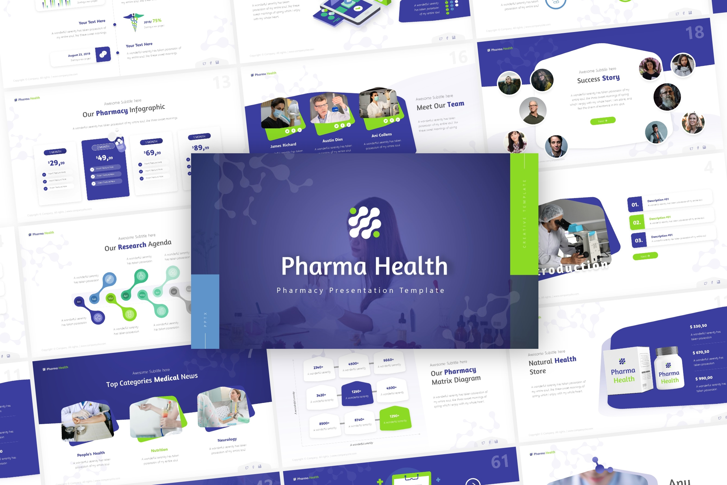 Pharma Pharmaceutical PowerPoint Template