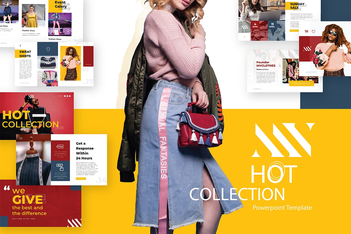 MVClothes Fashion PowerPoint Template