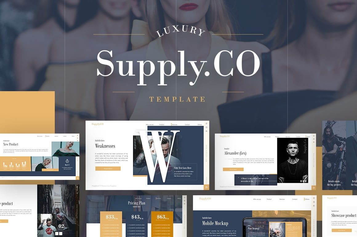 Supply.Co Fashion PowerPoint Template