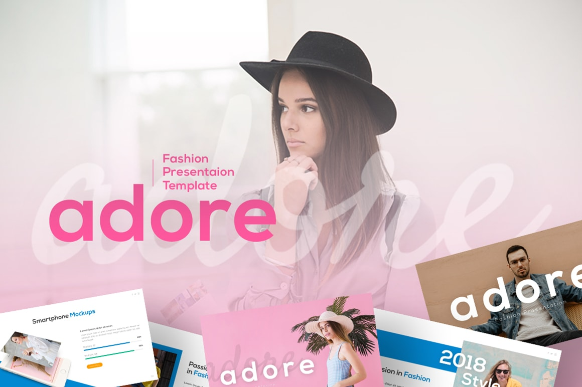Adore – Colorful Outfit Presentation Template