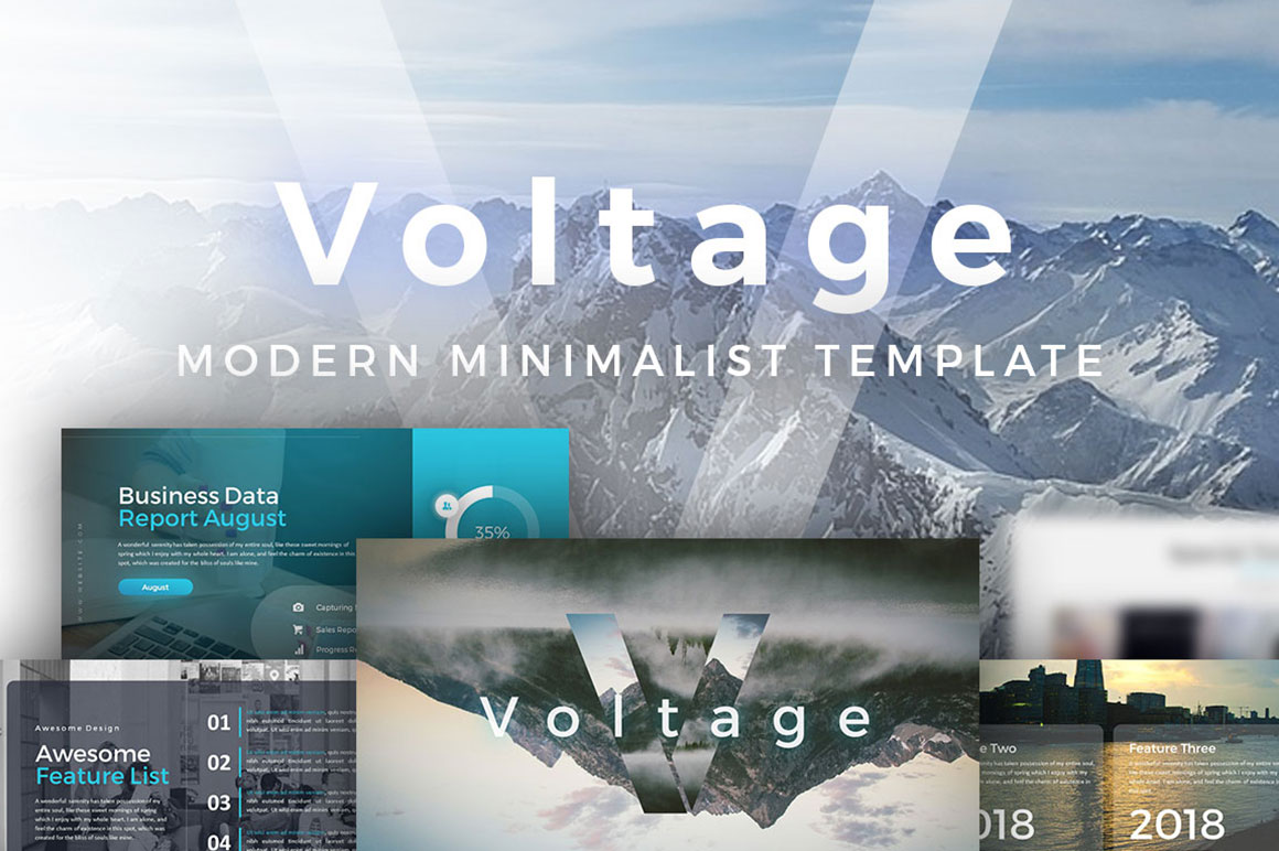 Voltage Business PowerPoint Template