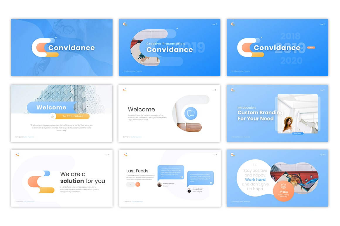 Convidance Creative PowerPoint Template