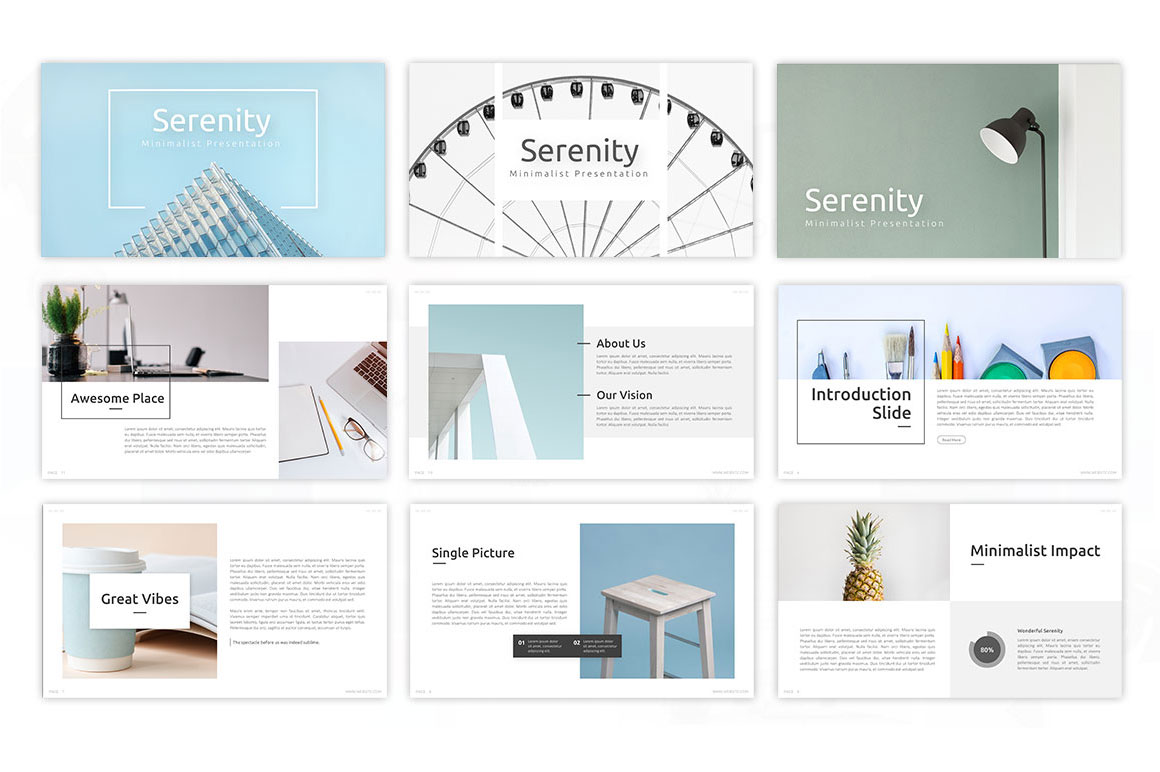 Serenity – Minimalist Presentation Template