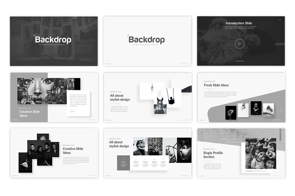 Backdrop - Black and White Presentation Template