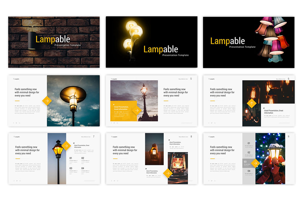 Lampable – Lightbulb Presentation Template