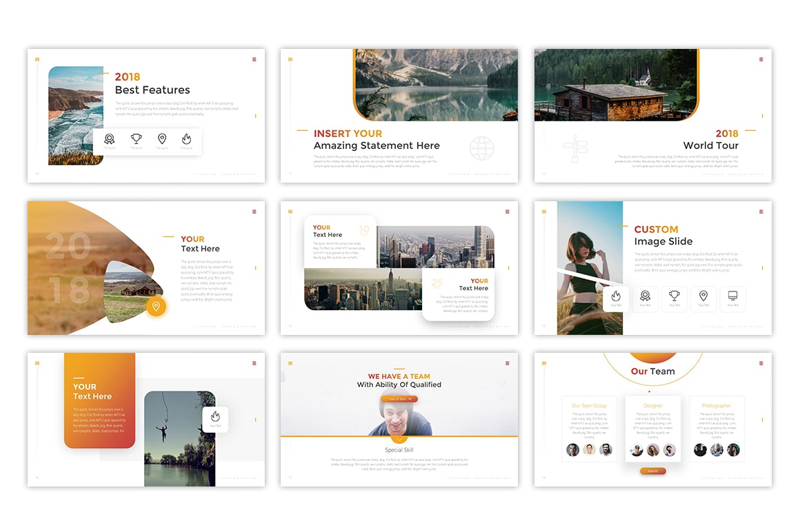 Titanium – Beautiful Presentation Template