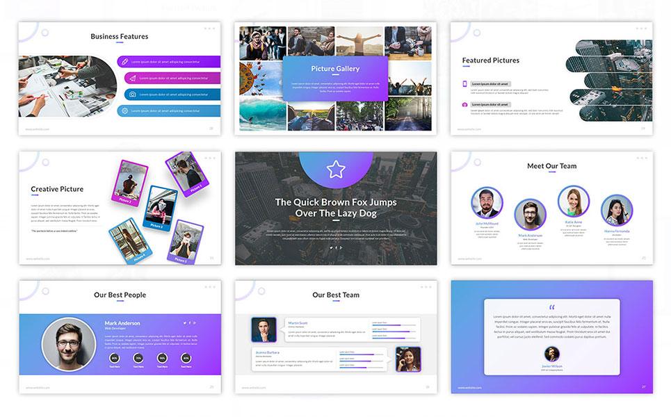 Curve Portfolio PowerPoint Template