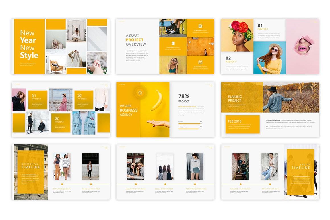Allegiant Fashion PowerPoint Template
