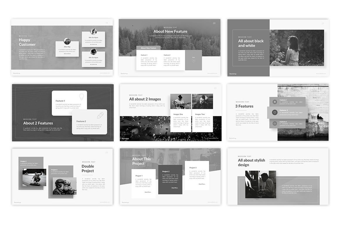 Backdrop Photography PowerPoint Template