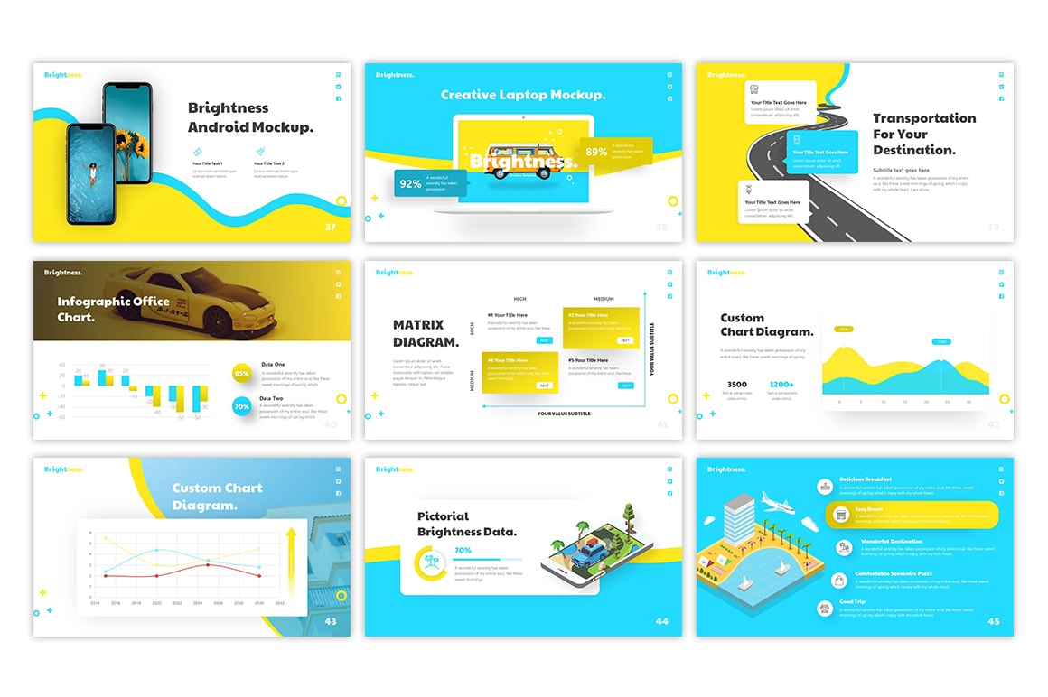 Brightness Vacation PowerPoint Template