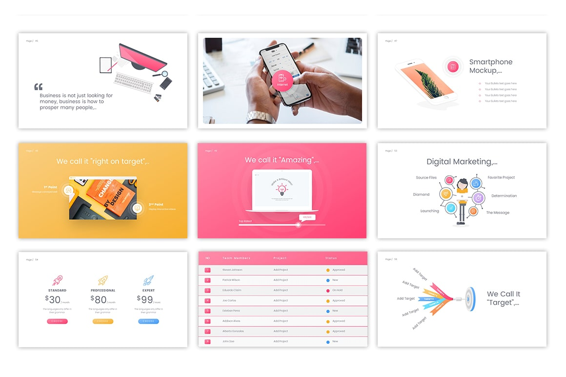 Surface Business PowerPoint Template