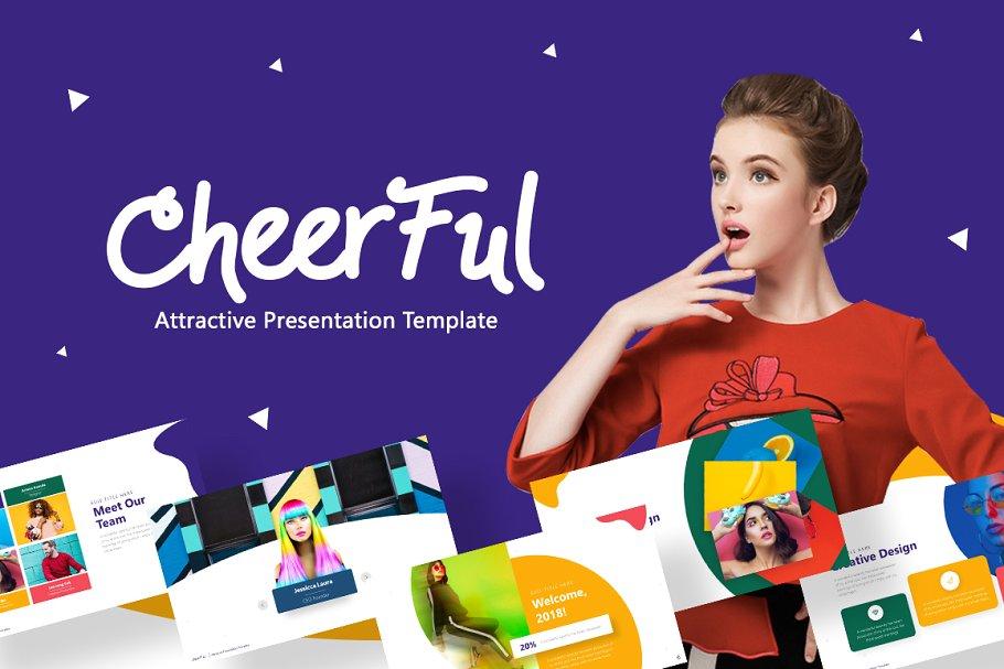 Cheerful – Fun Pop Art Presentation Template