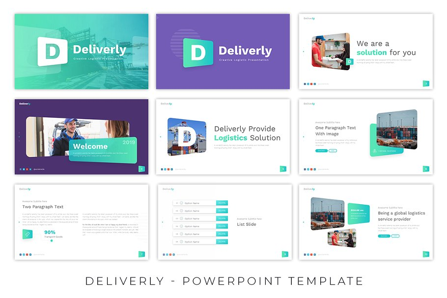 Deliverly – Logistic Presentation Template