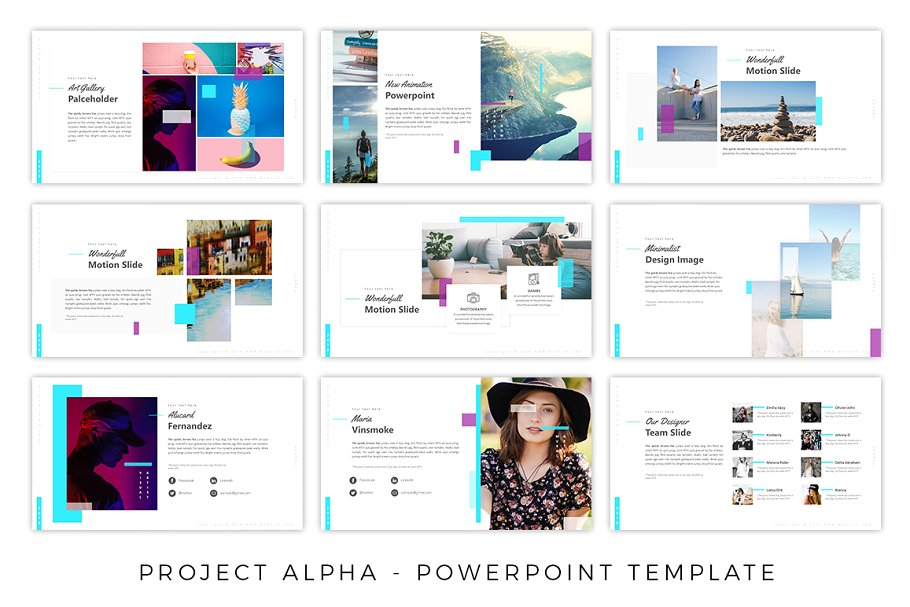 ProjectAlpha Fashion PowerPoint Template