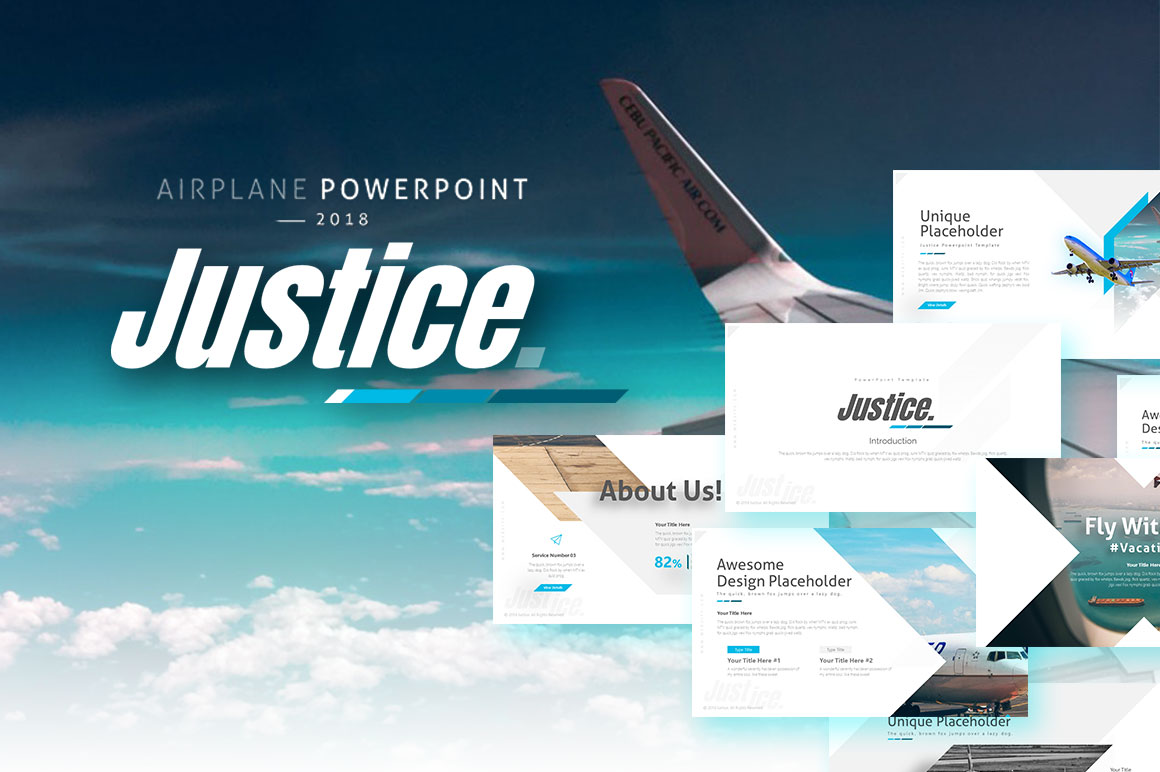 Justice - Airplane Presentation Template