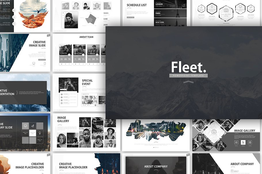 Fleet – Monochrome Presentation Template