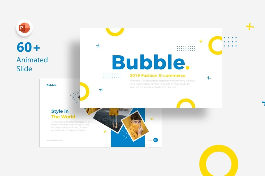 Bubble Fashion PowerPoint Template