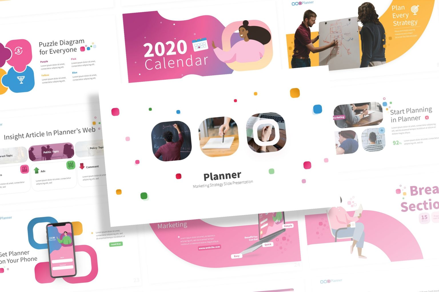 Planner - Marketing Presentation Template