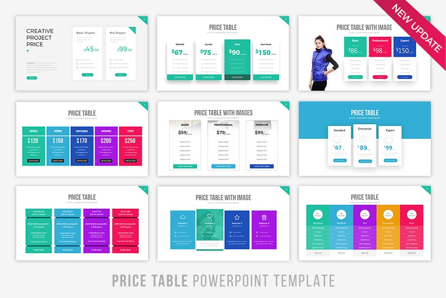 Pricetable Infographic PowerPoint Template