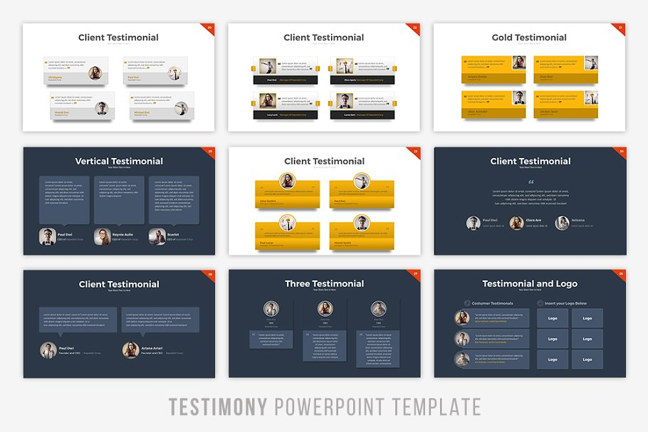 Testimony Infographic PowerPoint Template