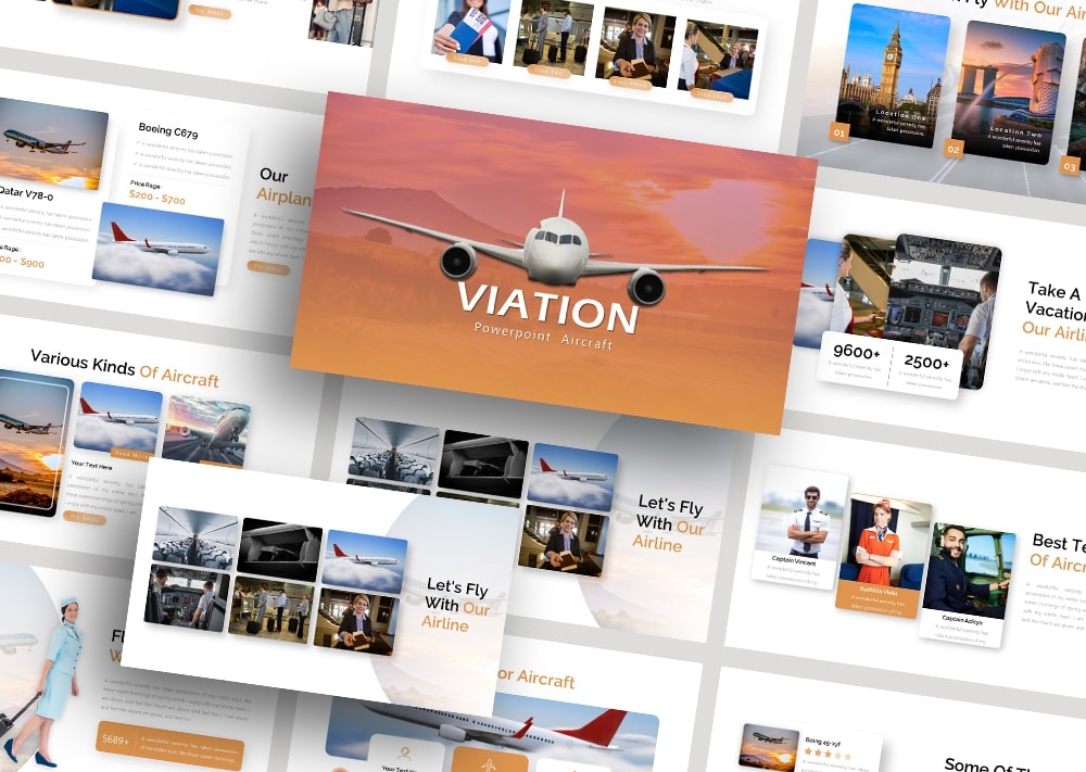 Free Viation Business PowerPoint