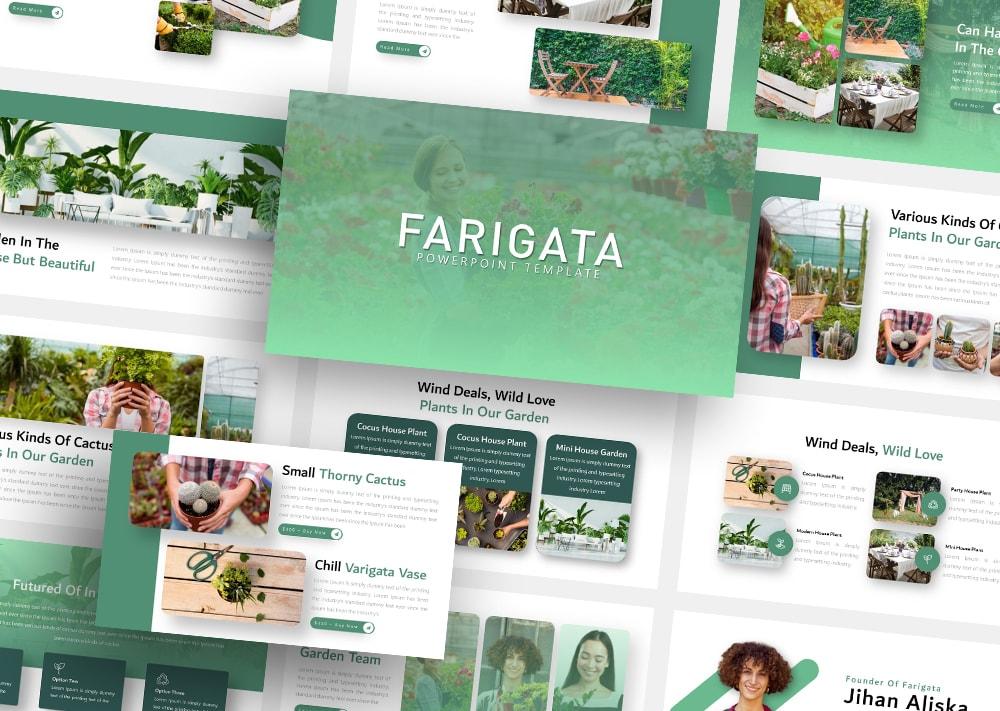 Free Farigata Gardening PowerPoint