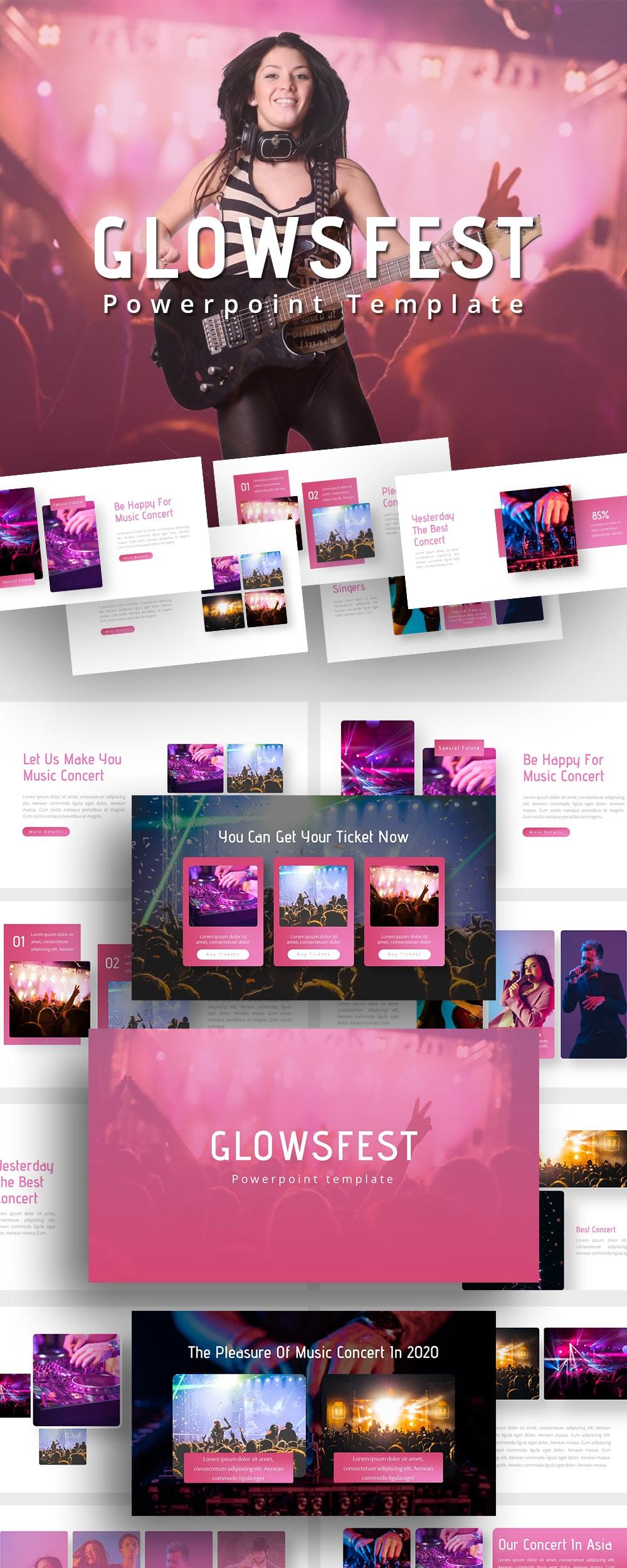 Free Glowsfest Music PowerPoint
