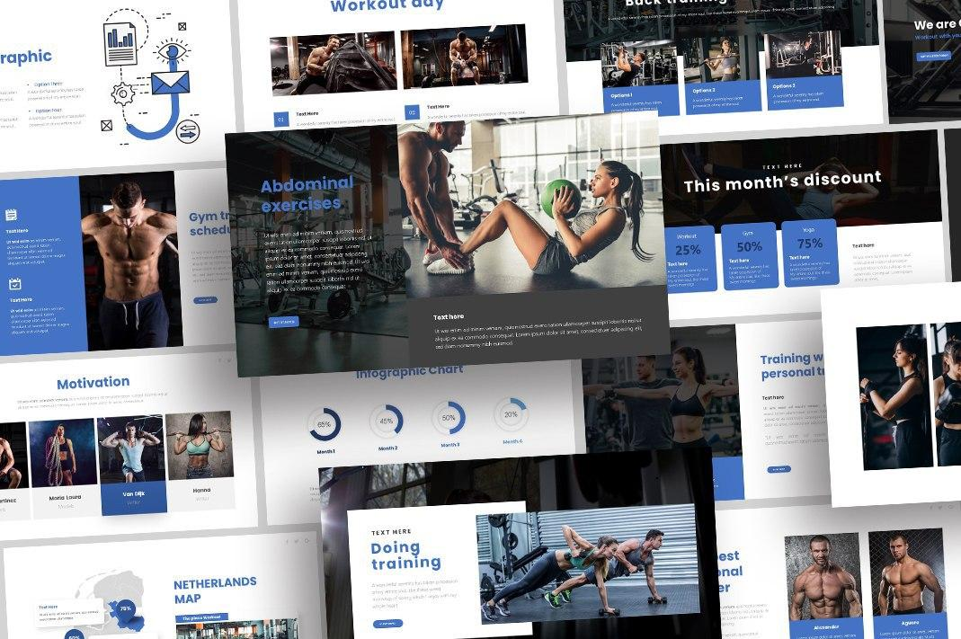 Free Sports Gym PowerPoint