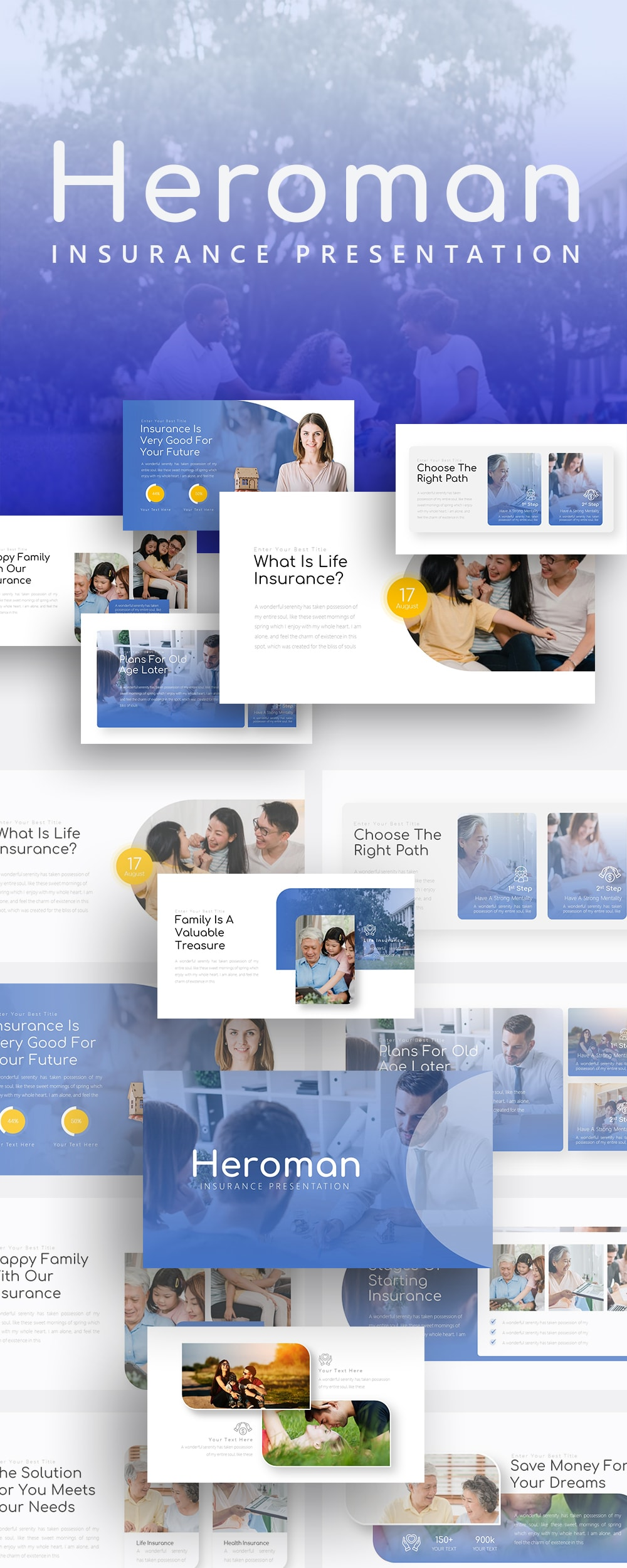 Free Heroman Insurance PowerPoint Template