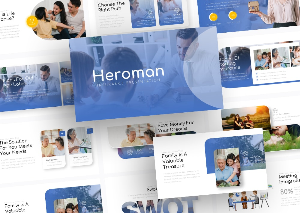 Free Heroman Insurance PowerPoint Template