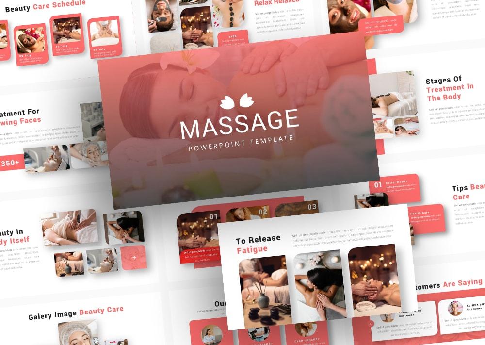 Free Massage Beautycare PowerPoint