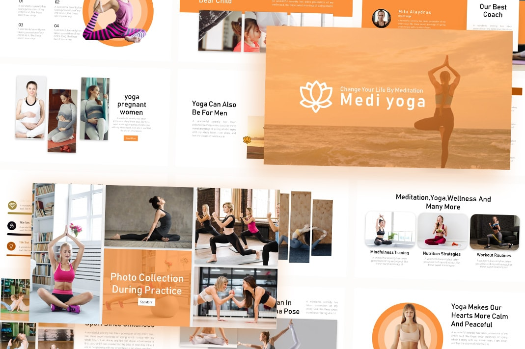 Free Yoga Sports PowerPoint