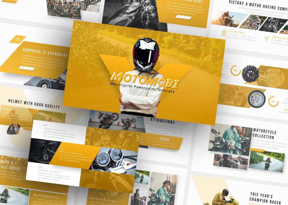 Free Motomobi Motorcycle PowerPoint