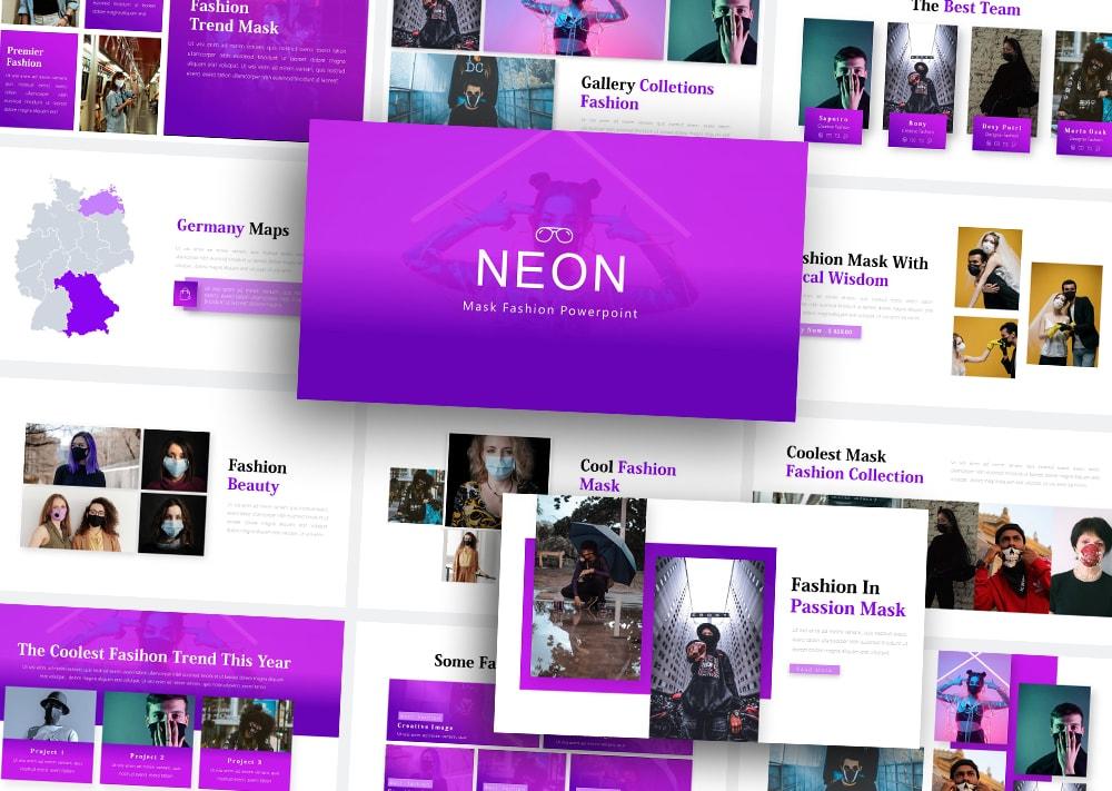 Free Neon Fashion PowerPoint