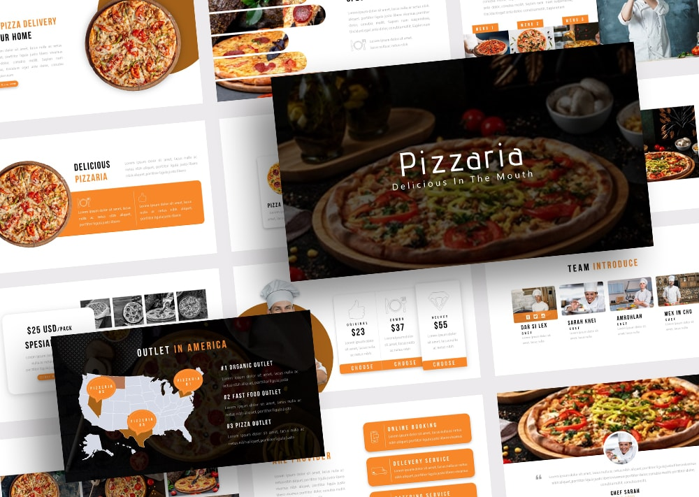 Free Pizzaria Food PowerPoint