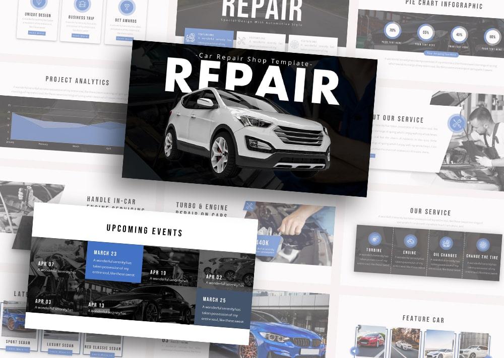 Free Repair Automotive PowerPoint