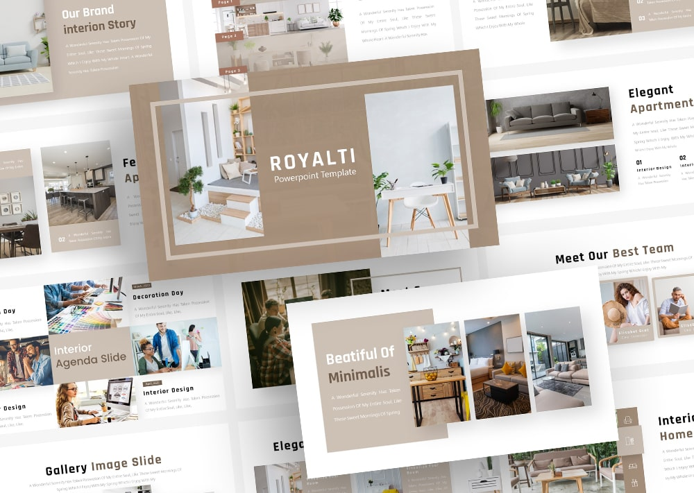 Free Royalti Interior PowerPoint