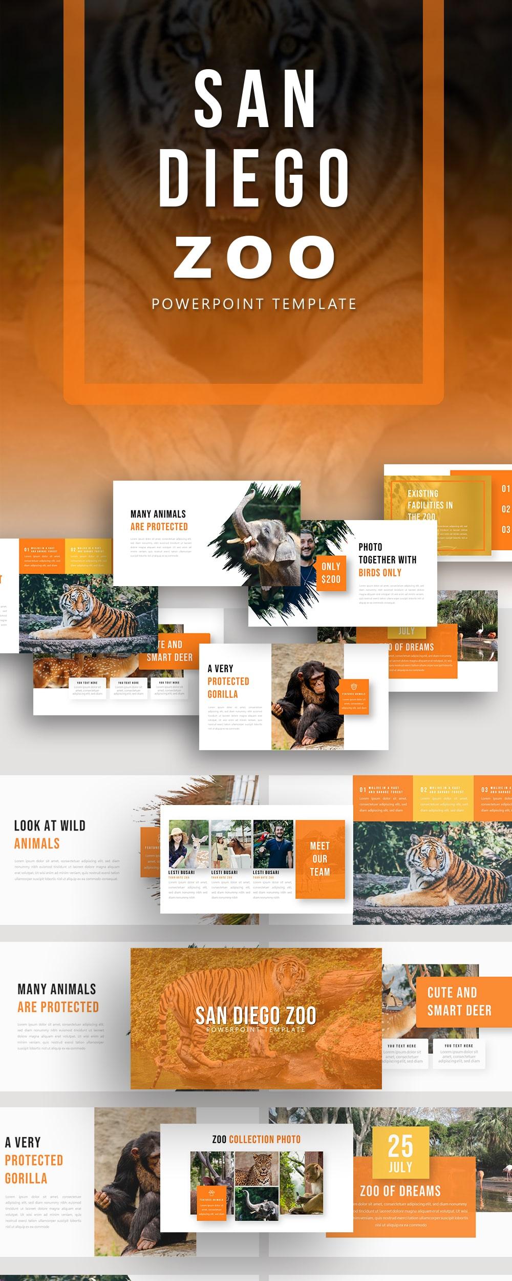 Free Zoo Animal PowerPoint