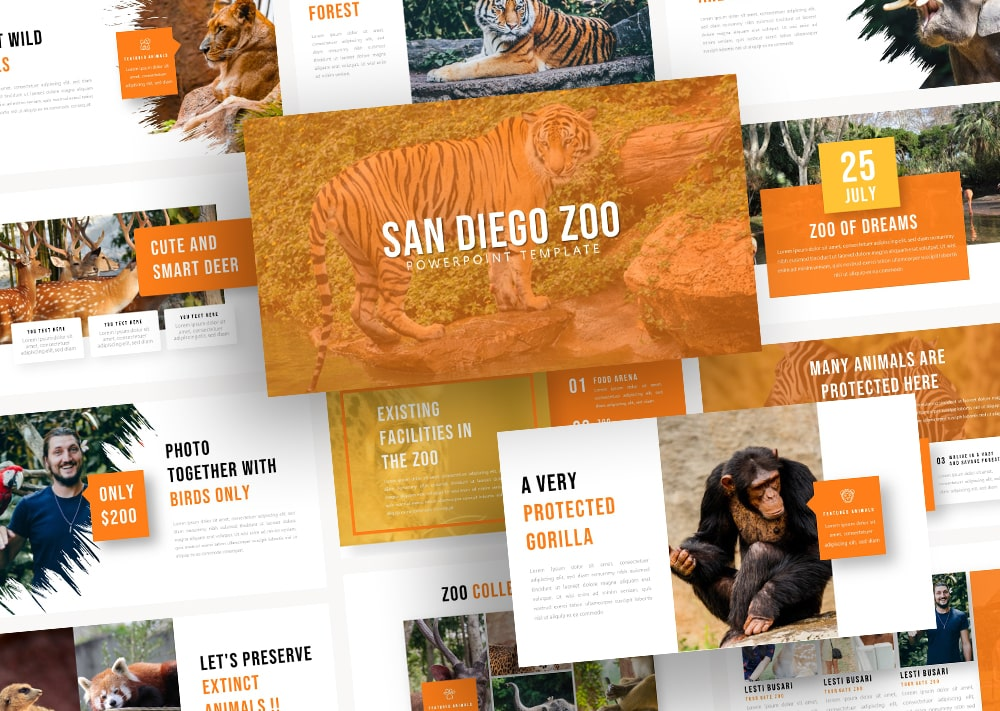 Free Zoo Animal PowerPoint