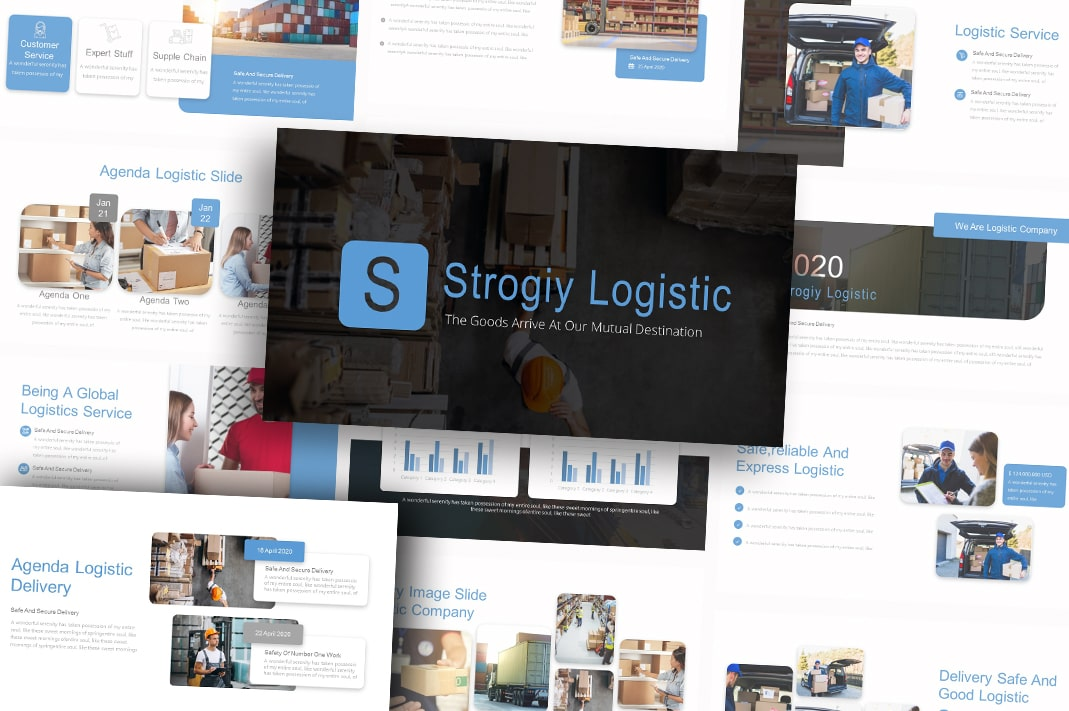 Free Strogiy Logistic PowerPoint