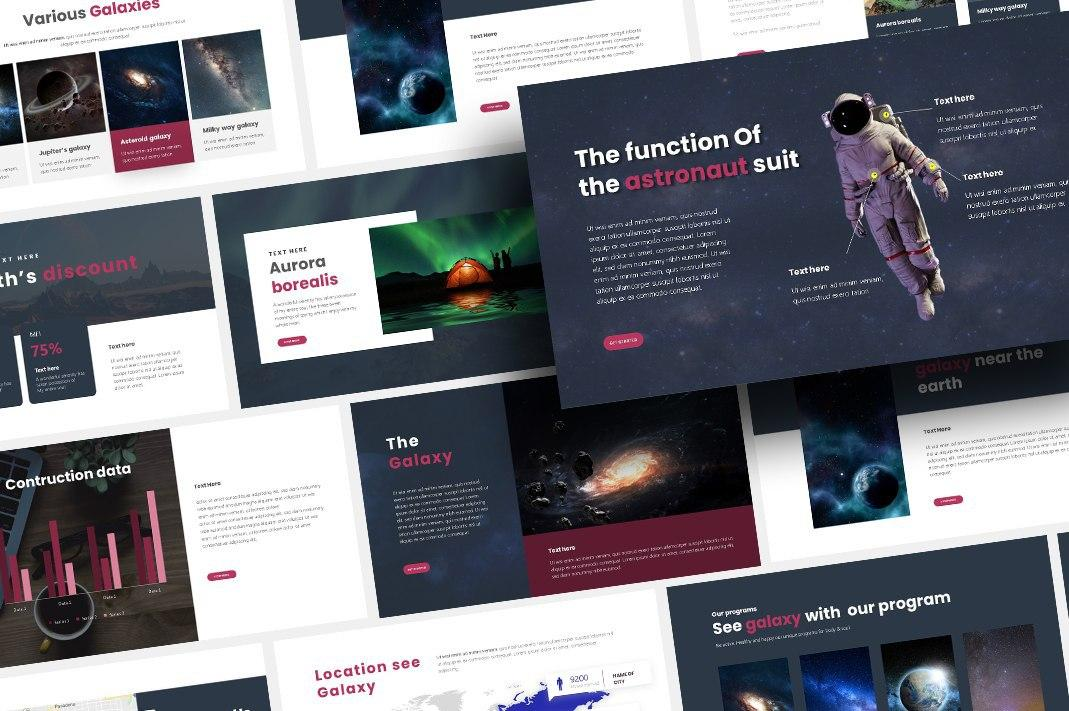 Free Galaxy Space PowerPoint