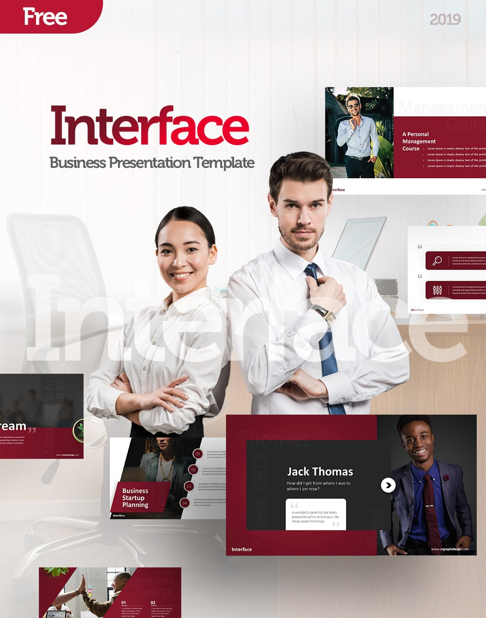 Free Interface Business PowerPoint