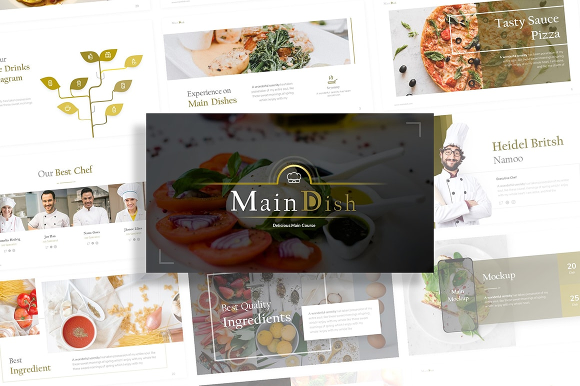 Maindish Restaurant PowerPoint Template