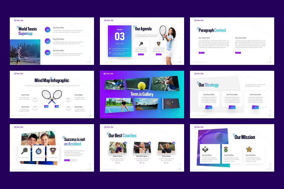 Tennis Club Sports PowerPoint