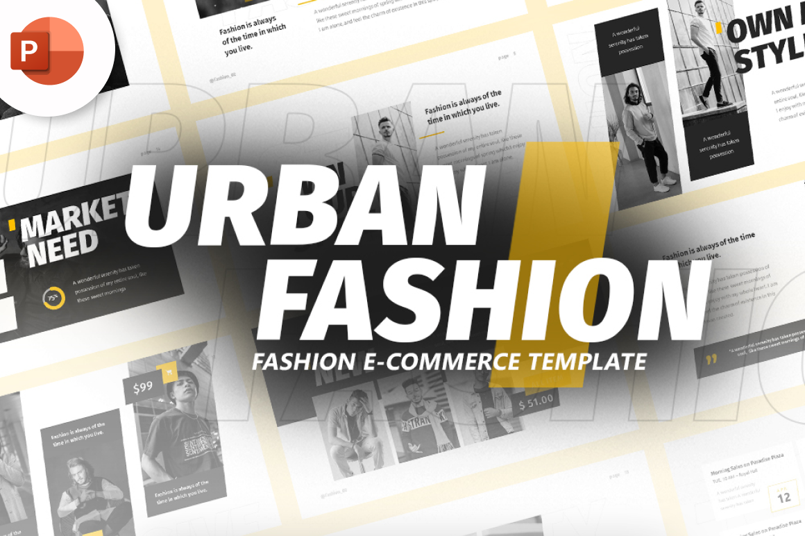 Urban Fashion PowerPoint Template