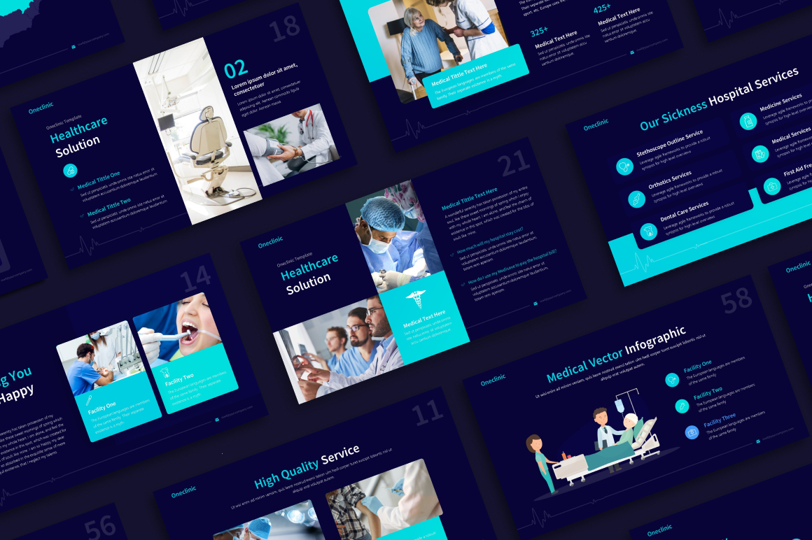 OneClinic Medical PowerPoint Template
