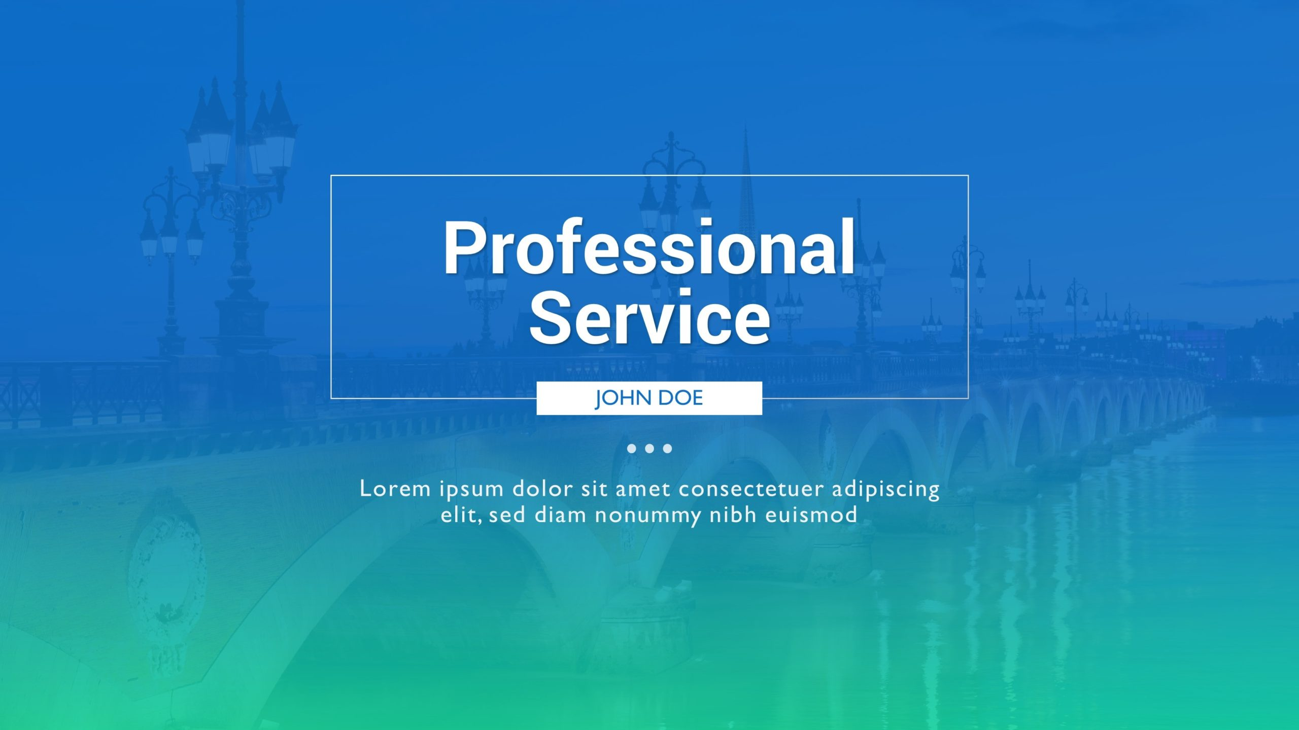 Free Professional Service PowerPoint Template