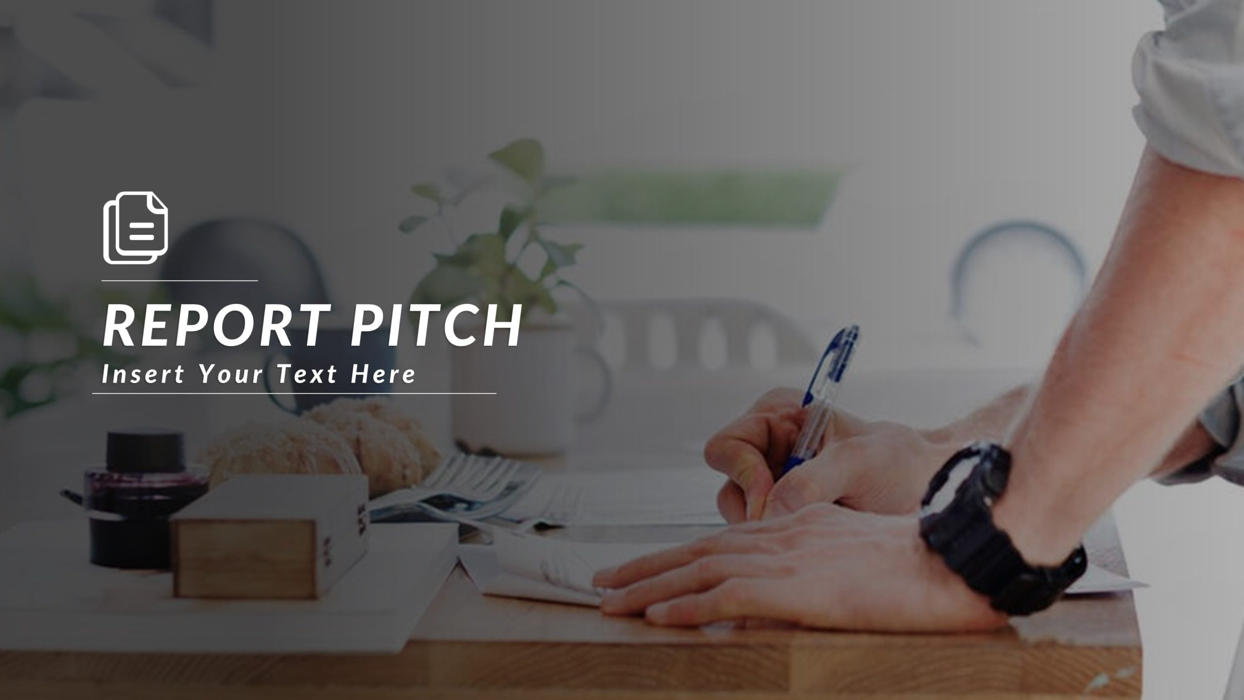 Free Report Pitch Business Presentation