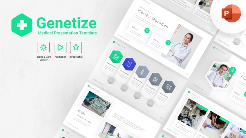 Genetize Medical PowerPoint Template